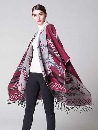 how to wear a poncho sale item