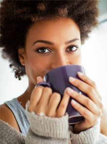 Happy-woman-with-coffee