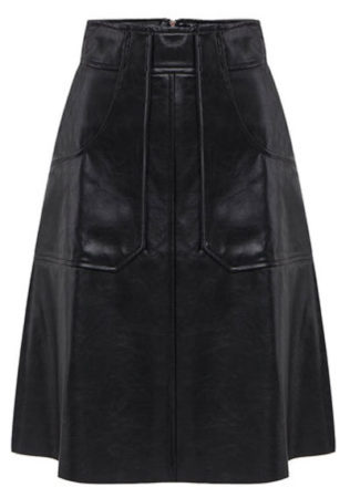 A-line-leather-skirt