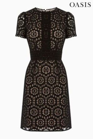 Oasis-dark-lace-dress