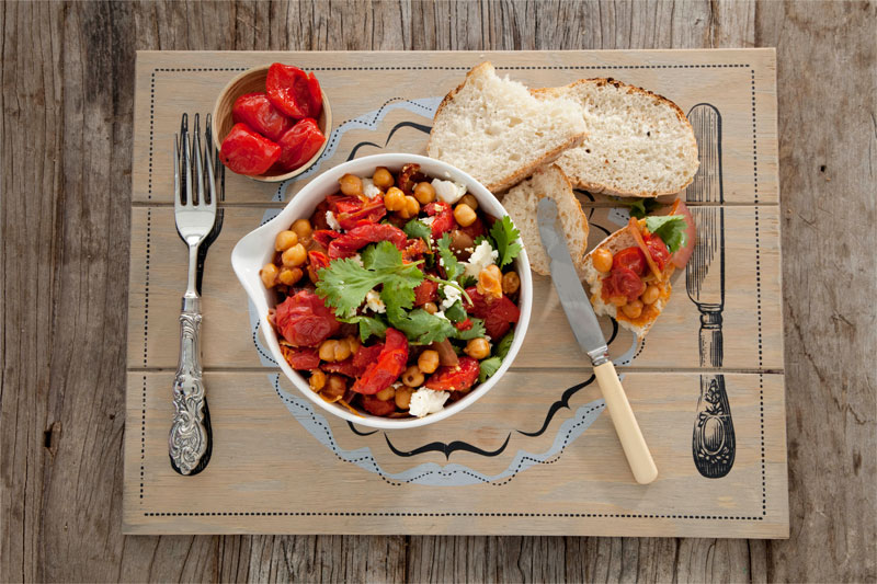 Sweet Piquanté Pepper And Chickpea Casserole Recipe