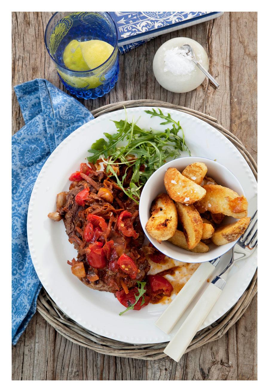 Sweet Piquanté Pepper Rib Eye Steak Recipe