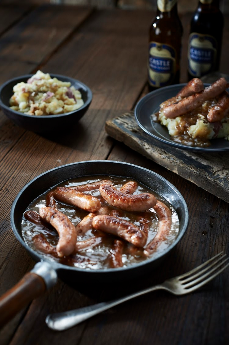 J'Something's Stout Gravy Sausage With Garlic Mash Recipe
