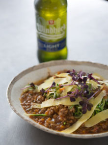 Windhoek Light Beef Bolognaise with Courgette Spaghetti Recipe