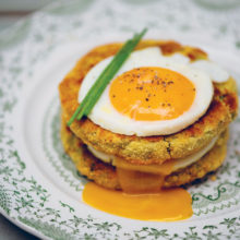 Fried Eggs On Courgette Rosti Recipe