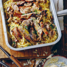 Jan Braai's Pork Chop Carbonara  Recipe