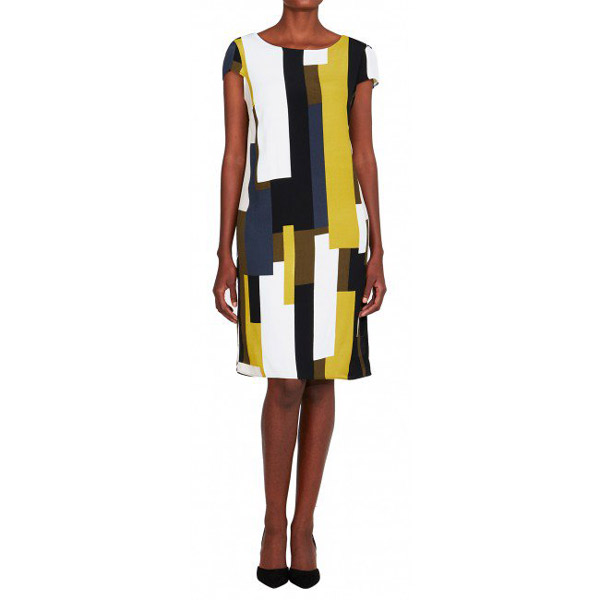Dresses with sleeves: Geometric shift dress