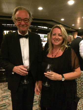 Caroline Righton and her husband, Mark, on their first cruise
