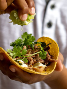 Barbecued Pulled Pork Tortillas Recipe