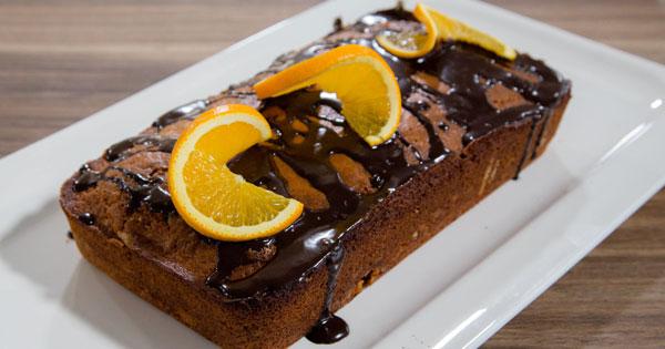 Carol's Orange Madeira Loaf with Chocolate Orange Glaze