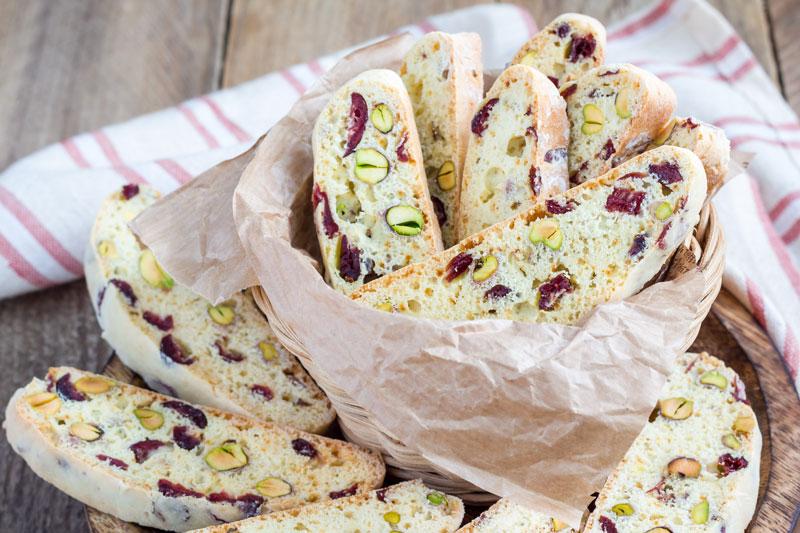 Chef Tjaart's Pistachio & Cranberry Biscotti Recipe