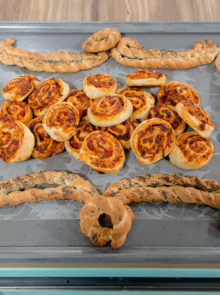 Cait's Poppy Seed Grissini Frame With Pizza Scrolls Recipe