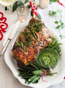 Herb-roasted Leg Of Lamb With Fresh Mint Sauce