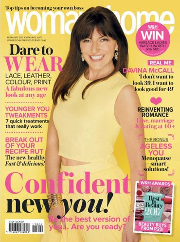 Fit celebs over 40: Davina McCall on women&home cover