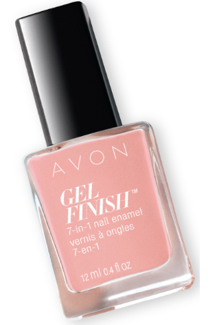 Gel nails at home: Avon Gel Finish Nail Enamel in Dazzle Pink
