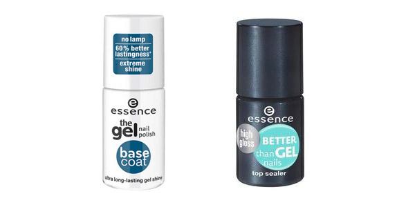 Gel nails at home: Essence base and top coats