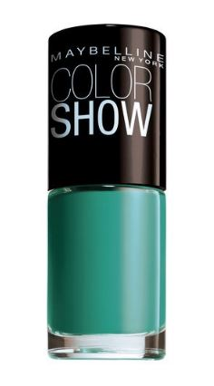 Gel nails at home, Maybelline Colour Show Nail Polish Urban Turquoise