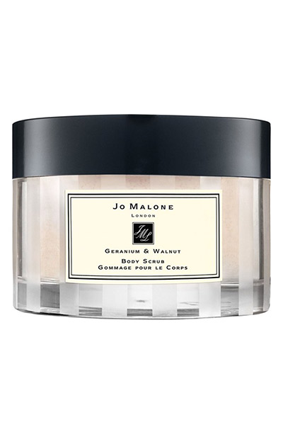 Best body lotions: Jo Malone Geranium & Walnut Body Scrub