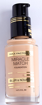 budget beauty buys Max-Factor-Miracle-Match-Blur-&-Nourish-Foundation,-RRSP-R219,95-for-30ml