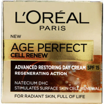 Celebrity anti ageing: L'Oréal Paris Age Perfect Advanced Restoring Day Cream,