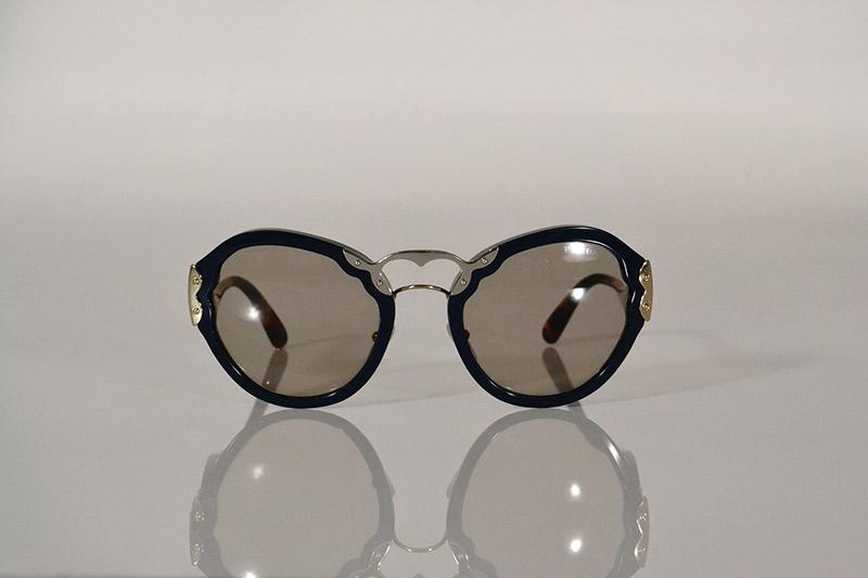 Sunglasses: Navy, silver and tortoiseshell, R5 090, Prada at Sunglass Hut