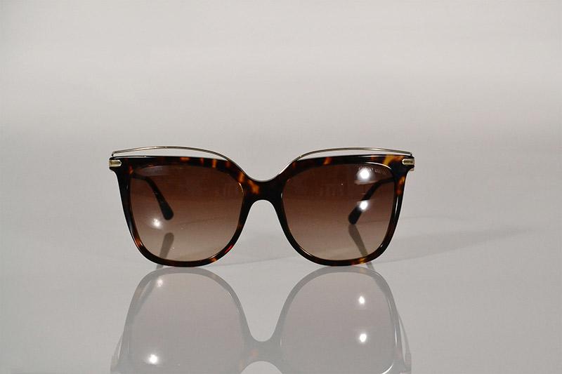 Sunglasses: Tortoiseshell and gold wire, R3 390, Emporio Armani at Sunglass Hut