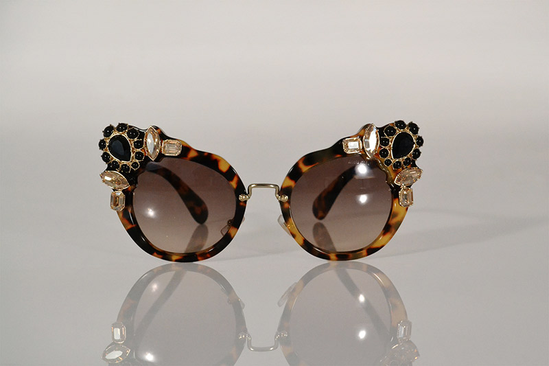 Sunglasses: Bedazzled tortoiseshell, R4 890, Miu Miu at Sunglass Hut