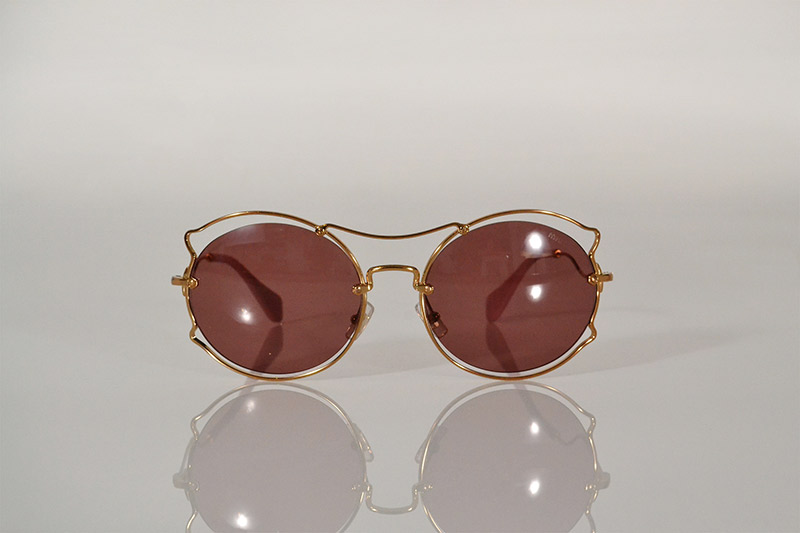 Sunglasses: Round pink and gold wire, R4 890, Miu Miu at Sunglass Hut