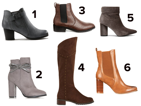 fashionable winter boots neutrals