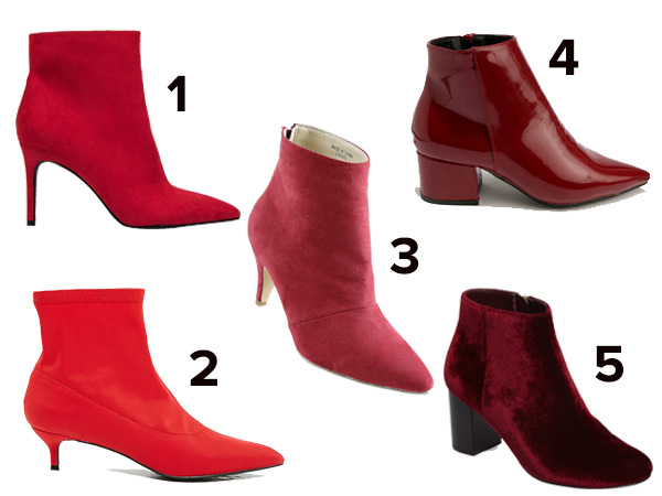 fashionable winter boots red