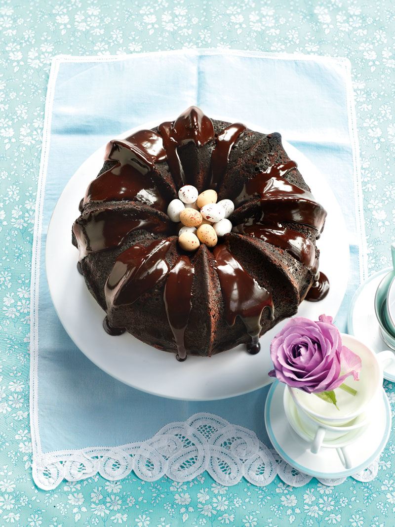 Chocolate Bundt Cake With Mocha Glaze Recipe