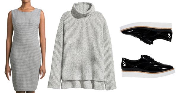 basic sleeveless dress chunky knit