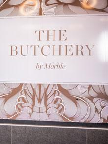 marble restaurant butcher sign