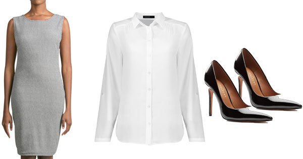 basic sleeveless dress office appropiate