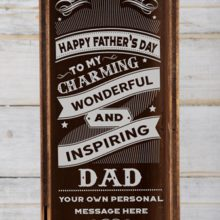 Win One of Two Personalised Inspiring Dad Wine Crates Worth R570 Each!