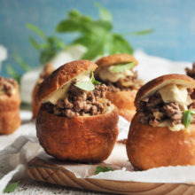 Vetkoek With Lamb And Hummus Recipe
