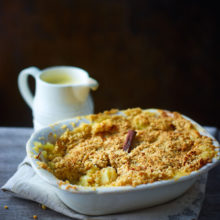 Apple And Cinnamon Crumble With Homemade Custard Recipe