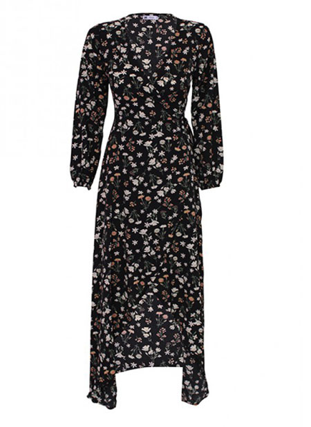 wrap dresses online small floral print