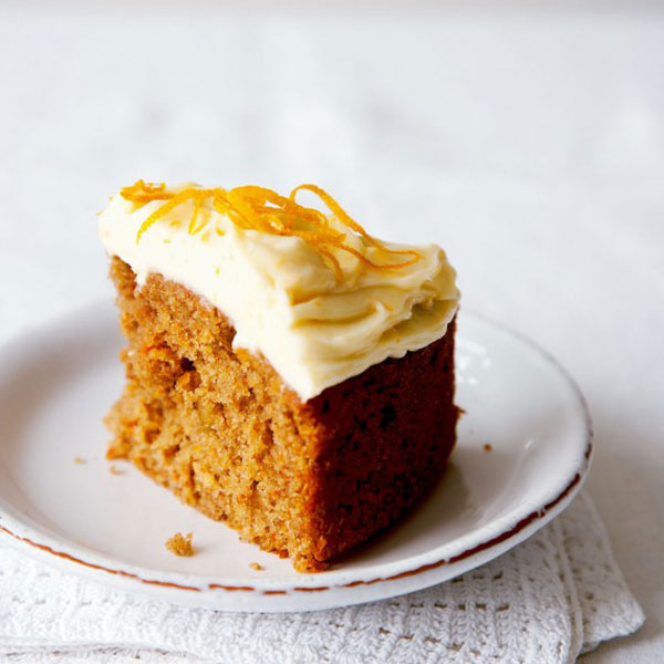 VIDEO: Carrot Cake With Orange Cream Cheese Frosting Recipe