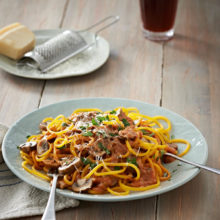 Carb-Free Butternut Spaghetti With Mushrooms And Garlic Recipe
