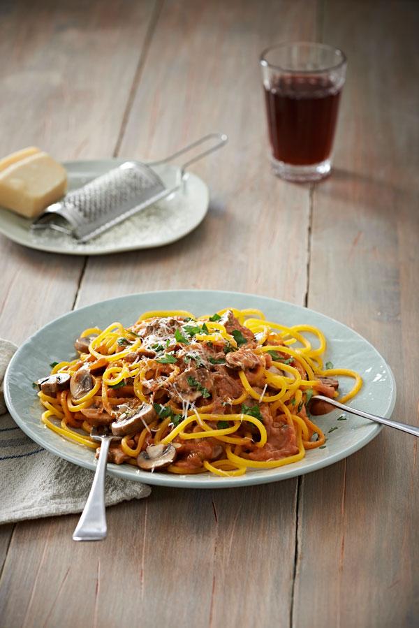 Carb-Free Butternut Spaghetti With Mushrooms And Garlic Recipe