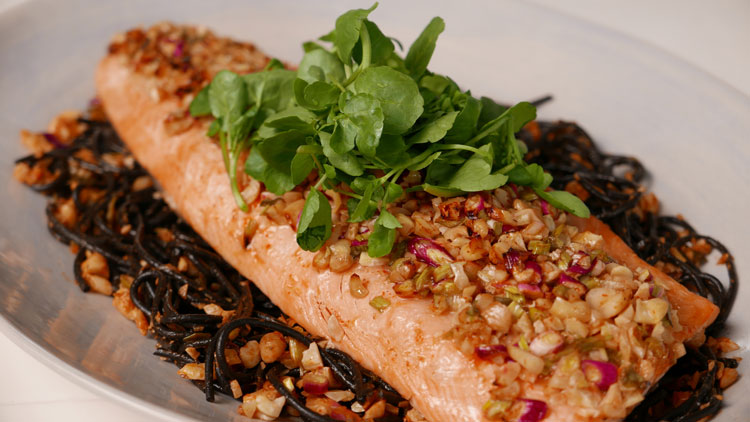 Siba's Baked Salmon and Sriracha Sauce Recipe
