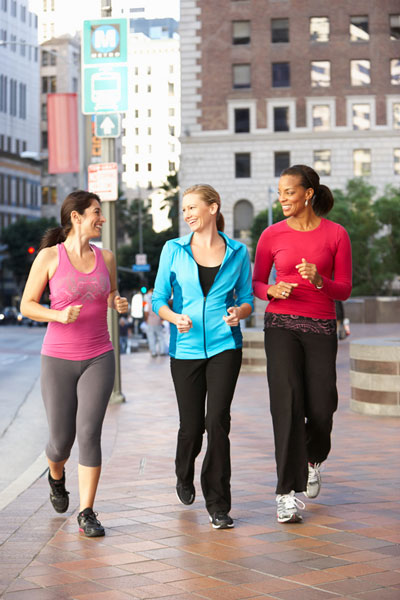 walking for weight loss and feel-good endorphins