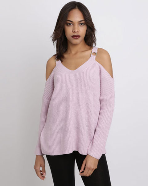 winter jerseys - cold shoulder knit from New Look at Zando
