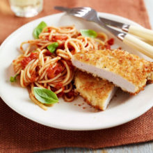 Crumbed Pork Fillet With Spaghetti Recipe