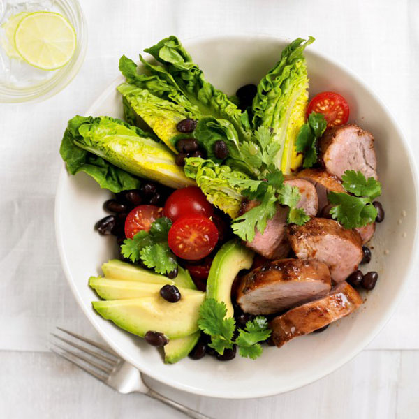 Smoky Pork Tenderloin Salad with Lime Dressing Recipe