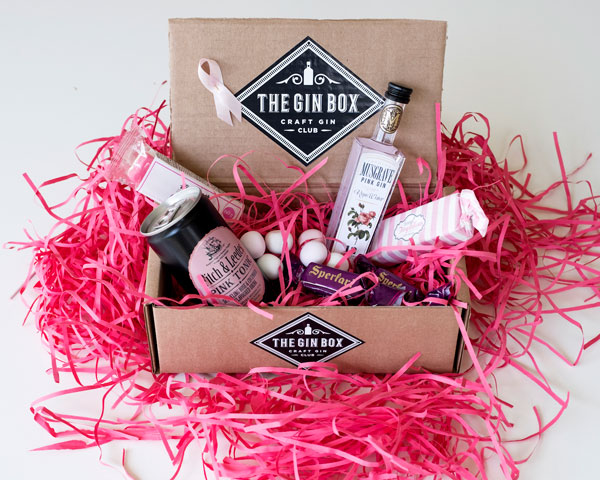 breast cancer awareness gin box