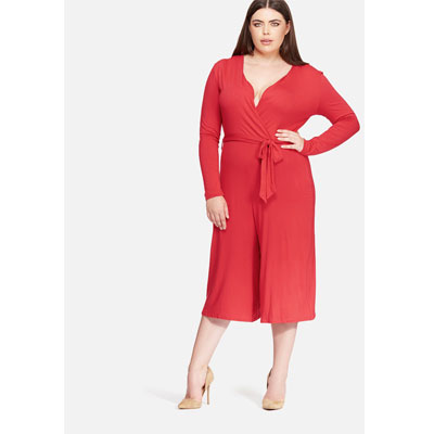 plus size style red
