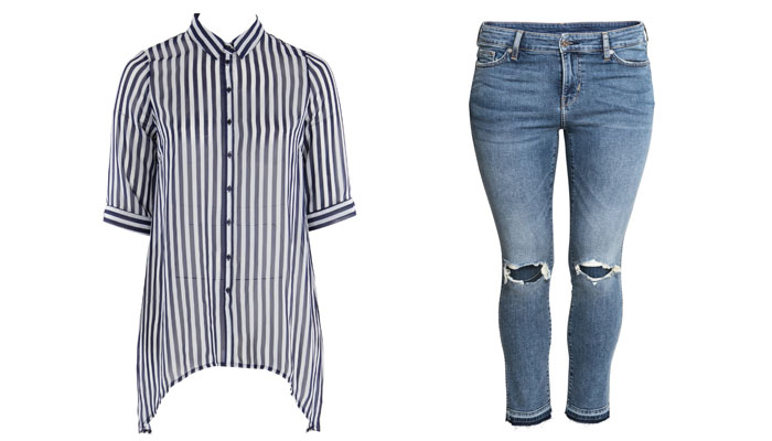 plus size style stripes
