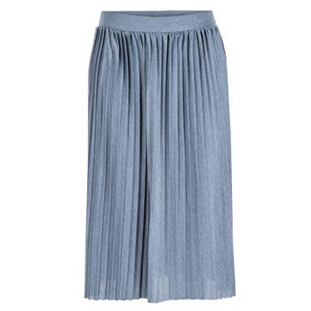 pleated midi skirt for pear body types